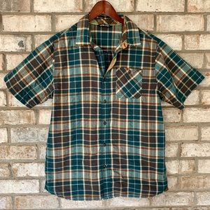 The North Face Plaid Short Sleeve Button Up Shirt